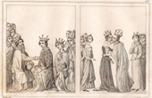 Visit of the Holy Roman Emperor Charles IV to the Queen Joan of Bourbon - Hotel Saint Paul in Paris - XIVth Century