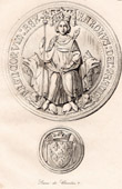 Seal of Charles V of France - XIVth Century - France
