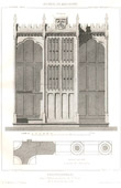 Drawing of Architect - Architecture - Woodworking - Confessionnal - Church of St Denis (E. Viollet-le-Duc)