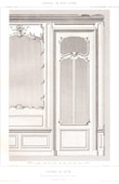 Drawing of Architect - Architecture - Woodworking - Salon - Cupboard (M. Loucheux, Isle-Adam)