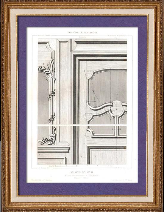 Gravures anciennes gravure de dessin d 39 architecte - Dessin d armoire ...