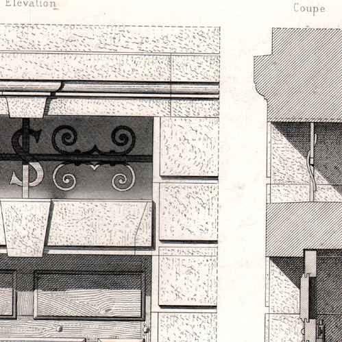 Stampe antiche stampa di disegno di architetto - Architetto porta ...
