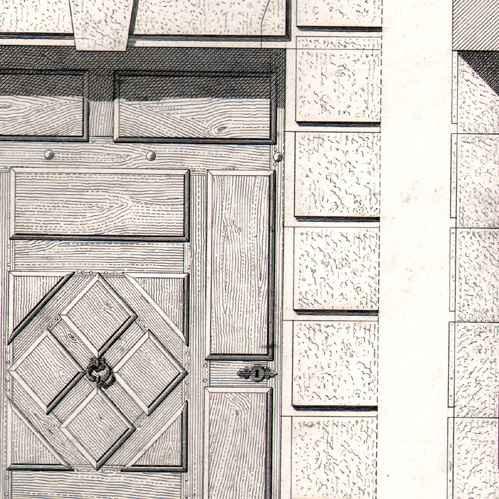 Gravures anciennes dessin d 39 architecte architecture for Architecte abbeville