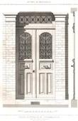 Drawing of Architect - Architecture - Woodworking - Door - Parc des Buttes Chaumont at Paris (G. Davioud)