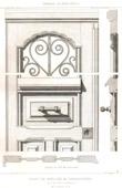 Drawing of Architect - Architecture - Woodworking - Door - D�tails - Parc des Buttes Chaumont at Paris (G. Davioud)