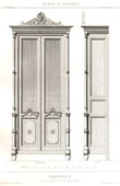 Drawing of Architect - Architecture - Woodworking - Bookcase (M. Drovin)