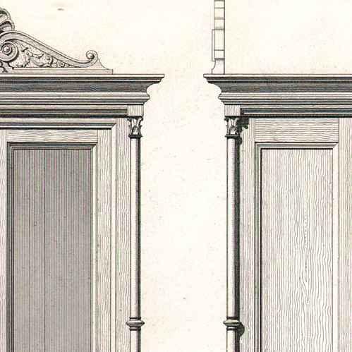Gravures anciennes dessin d 39 architecte architecture - Dessin d armoire ...