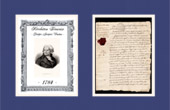 Historical Document - French Revolution - 1784 - Danton studies law at the faculty of Reims