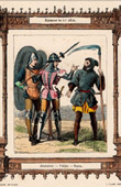 French Fashion and Costumes - 14th Century - XIVth Century - Soldier - Crossbow - Voulgier - Farming