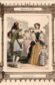 French Fashion and Costumes - 17th Century - XVIIth Century - Courtesans