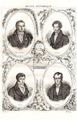 Portraits - Dupuytren (1777-1835) - Orfila (1787-1853) - Bayle (1774-1816) - P.C.A. Louis (1787-1872)