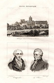 Historical Monuments of France - Caen (Calvados - France) - Abbaye aux Dames - Portraits of Vauquelin and Laplace