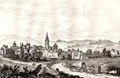 View of Gu�ret (Haute Marche, Creuse - France)