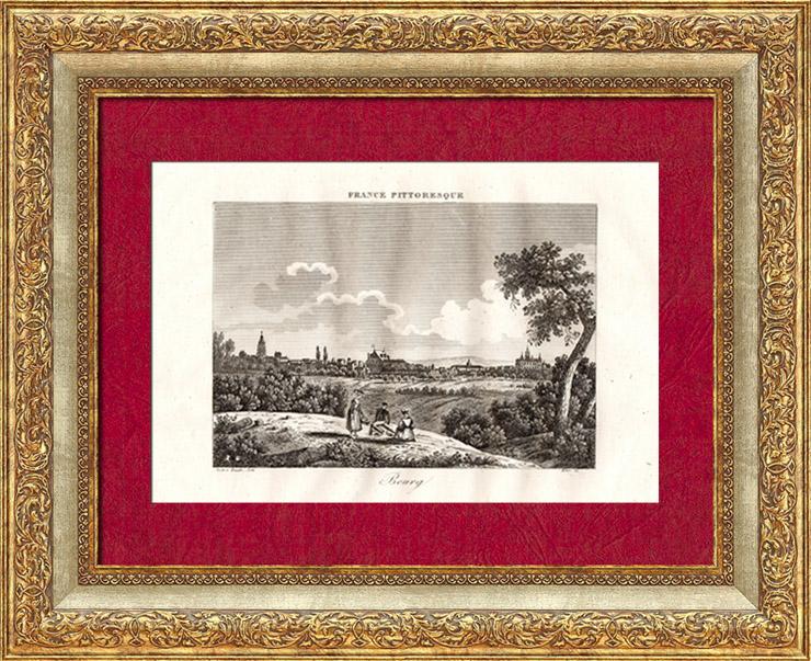 Gravures Anciennes & Dessins | Vue d'ensemble d'un bourg | Taille-douce | 1835