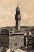 View of Florence (Italy) - Palace - Palazzo Vecchio - Palazzo della Signoria
