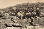 Antique print - View of Agrigento - Sicily (Italy) - Valley of the Temples