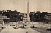 View of Rome (Italy) - Place du Peuple - Piazza del Popolo - Obelisco Flaminio - Pincian Hill
