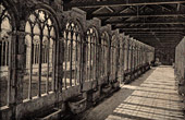 View of Italy - Campo Santo Cloister in Pisa - Monumental Cemetery - Camposanto monumentale - Tuscany