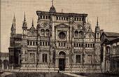 Pavia (Italy) - Certosa di Pavia - Charterhouse of Pavia - Monastery - Portal by Benedetto Briosco - Cristoforo Mantegazza - Fresco by Bergognone