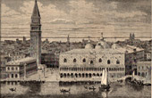 View of Venice (Italy) - Doge's Palace - St Mark's Campanile