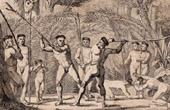 Brésil - Combat Singulier de Botocoudos - Aimorés - Aimborés