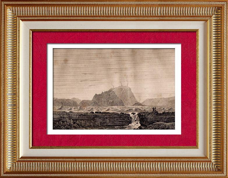 grabados antiguos m xico volc n el jorullo grabado en talla dulce 1838. Black Bedroom Furniture Sets. Home Design Ideas
