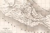 Map of Anahuac - Mexico - Acolhuacan - Mechoacán - Tlaxcala - Huexotzinco - Cholula