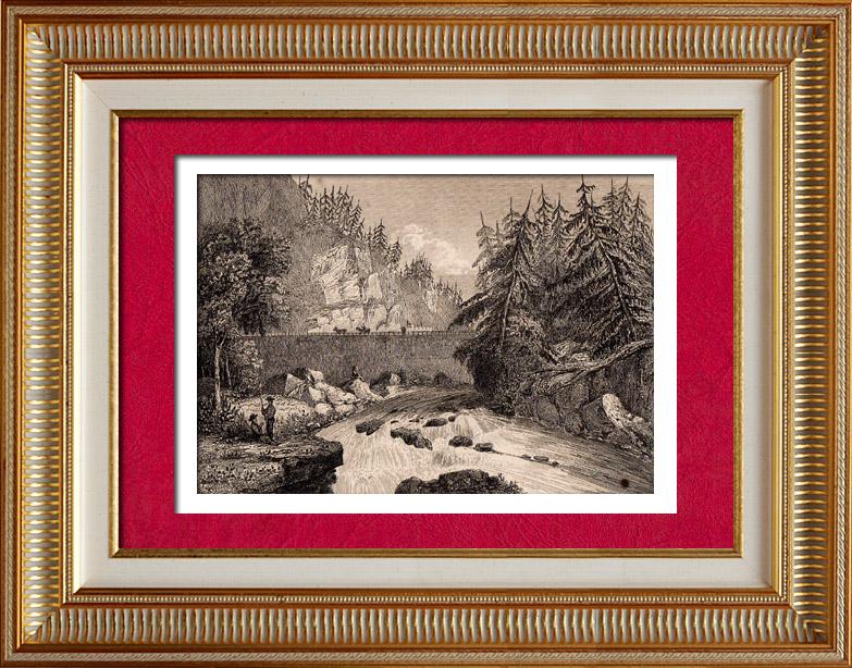 Gravures Anciennes & Dessins | États-Unis d'Amérique - Mohawk | Taille-douce | 1838