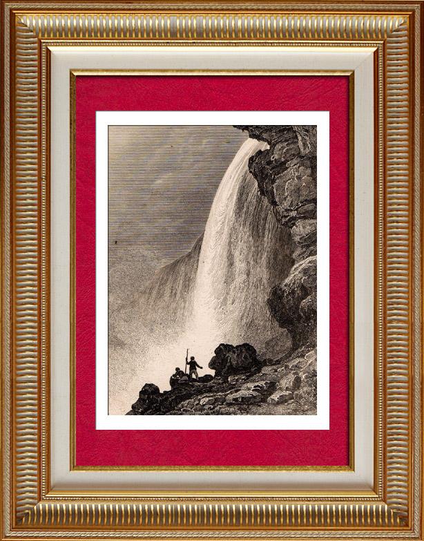 Gravures Anciennes & Dessins   États-Unis d'Amérique - Chutes du Niagara   Taille-douce   1838
