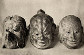 Japanese art - Wood Sculptures - Masks - Bugaku - Ghigaku - Shômu Era - VIIIth Century