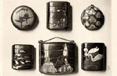 Japanische Kunst - Malerei - Lack - Inros - Burgau Verkrustung - XVII. Jahrhundert