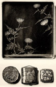 Japanische Kunst - Malerei - Lack - Tablett - Schuncho Schule - XVIII. Jahrhundert - Inro von Ritsu� - Schachtelen