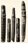 Japanese art - Ancient Weapons - Daggers - Toyoda Sempo - Pipe case - XIXth Century