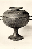 Chinese Art - Bronze - Coupe with lid - Han Dynasty