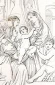 Sagrada Fam�lia - Sacra Famiglia - Madona dell' Impanata (Raffaello Sanzio conhecido como Rafael)