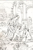 Sagrada Fam�lia - Sacra Famiglia (Raffaello Sanzio conhecido como Rafael)