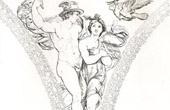 Loggia di Psiche - Psyche led by Mercury to the council of the Gods (Raffaello Sanzio called Raphael)