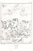 Antique print - Triumph of Galatea (Raffaello Sanzio called Raphael)