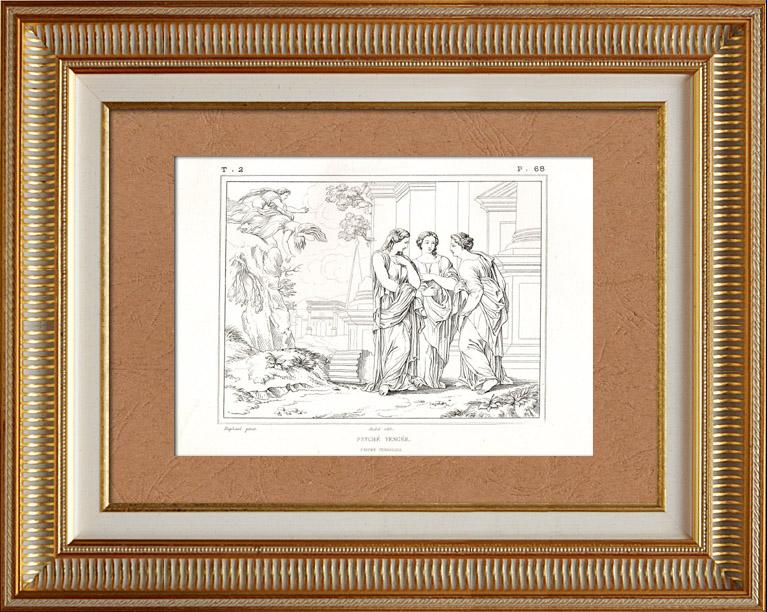 Gravures Anciennes & Dessins | Histoire de Psyché - Vengeance de Psyché (Raffaello Sanzio dit Raphaël) | Gravure à l'eau-forte | 1872