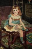 Portrait of Mademoiselle Charpentier en Bleu (Auguste Renoir)