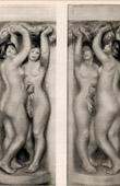 Stampa di Nudo Femminile - Cariatidi (Auguste Renoir)
