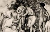 Gravura antiga - O Julgamento de Páris (Auguste Renoir)