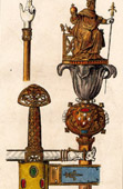 Charlemagne  - Sword - Joyeuse - Sceptre - Hand of Justice
