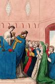 Scene of Religious Life in the XIIth Century - Communion