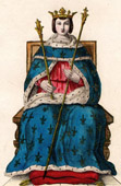 Royal costume of Louis IX (1215-1270)