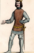 Portrait of Charles V of France (1338-1380) in Military Costume