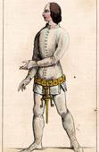 Portrait of Jean Vaudetar -  Valet - Adviser - Charles V of France - XIVth Century