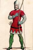 Costumes - Military Uniform - XIVth Century - Archer - Bowman