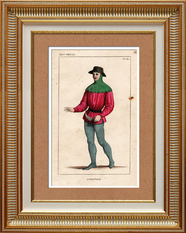 Gravures anciennes gravures de jardinier for Recherche jardinier paris
