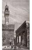 View of Florence - Loggia dei Lanzi - Piazza della Signoria - Tuscany (Italy)